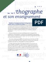 Plaquette du ministère de l'Éducation sur l'orthographe