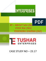 Case Study on Tushar Enterprises Ppt