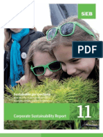 SEB's Corporate Sustainability Report for 2011