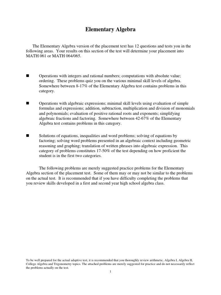 Elementary Algebra | Factorization | Algebra