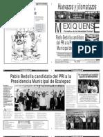 Versión impresa del periódico El mexiquense Edición 17 de abril 2012