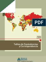 Tabla de Equivalencias 2009