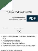 Tutorial PythonForS60