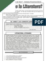 1. ABRIL – LITERATURA – 2DO  AÑO