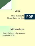 Unit 3 Study Guide 2012
