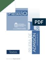 Lecturas Examen de Admision Universidad Nacional de Colombia 2012 1