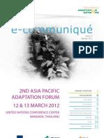 Climate Change Adaptation Ecommunique_January 2012