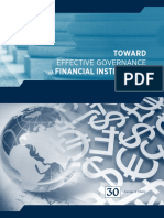 Toward Effective Governance of Financial Institutions