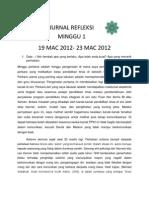 JURNAL REFLEKSI MINGU 1