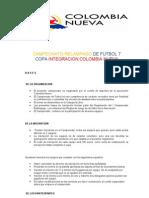 1er campeonato de Futbol Colombia Nueva