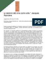 El destino del cine, Rancière