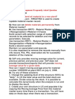 SAP Material Management Frequently Asked Question