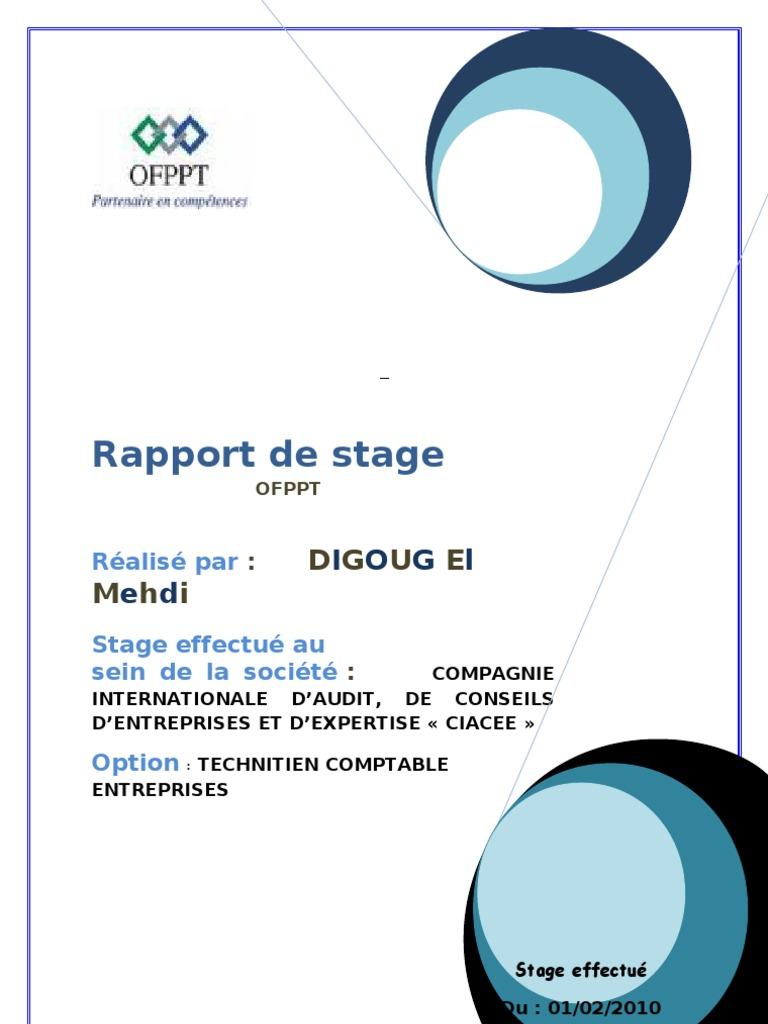 GRATUIT STAGE OFPPT DE TÉLÉCHARGER RAPPORT