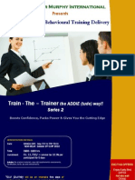 Certification in Behavioural Training Delivery