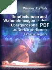 Werner Zurfluh - Empfindungen und Wahrnehmungen in der Übergangsphase zu außerkörperlichen Erfahrungen