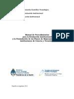 Conicet Manual Procedimientos Evaluacion 2010