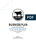 Business Plan Susu Pasteurisasi