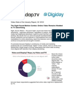 Q1 2012 Adap.tv State of the Video Industry Report & Whitepaper