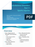 Musculoskeletal Disorders Part 7 Sports Injuries