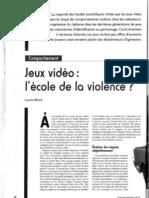 Article - Jeux video, l'école de la violence