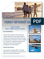 corporate family vacation certificate