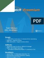 Todd's WordWatch Presentation for Kachingle Freemium Meetup 4/12/12