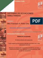 Sistemas de Ecuaciones Simultaneas