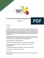 MICROCONTOS REGULAMENTO-2012