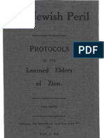 The Jewish Peril - Protocols of the Learned Elders of Zion - 5th Ed - 107pgs (1921)