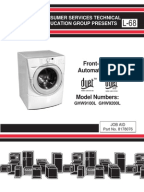 Whirlpool Duet Washer Component Testing