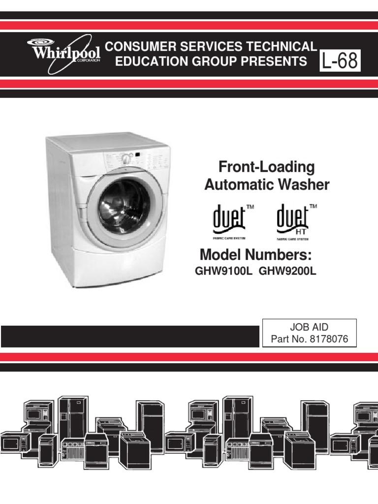 whirlpool duet washer service manual washing machine ac power rh scribd com whirlpool front load washer manual drain whirlpool front load washer manual drain