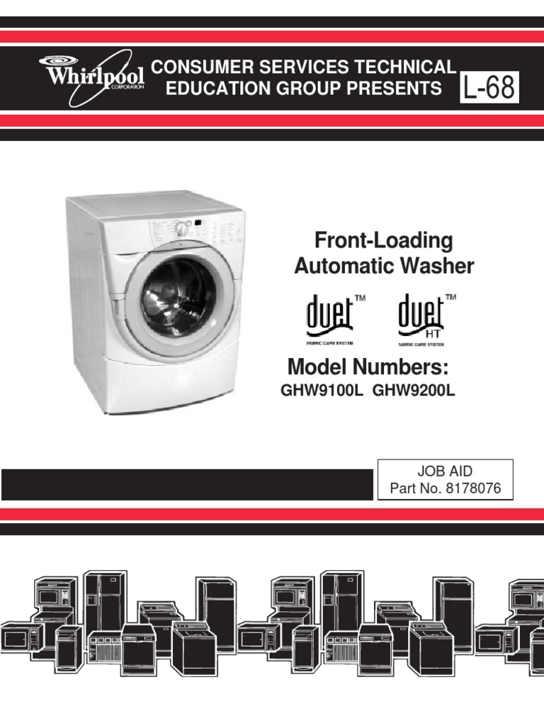Whirlpool Duet Washer Service Manual | Washing Machine | Ac