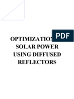 Optimization of Solar Power Using Diffused Reflectors