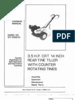 Rototiller Manual