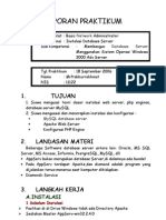 Laporan Praktikum Database Server