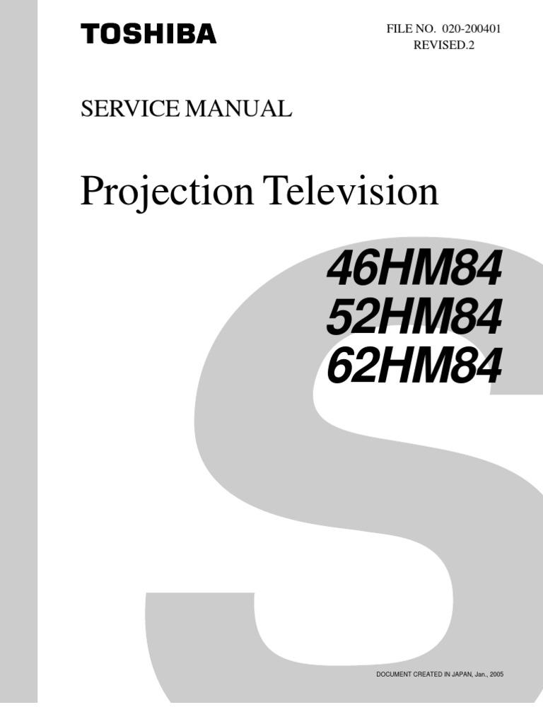 toshiba 52hm84 troubleshooting manual