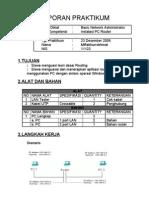 Lapran Praktikum PC Router