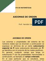 Axiomas de Orden