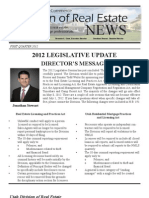 Utah Division of Real Estate Newsletter, 1st Quarter, 2012