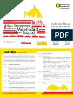 Agenda Foro Movilidad Uniandes