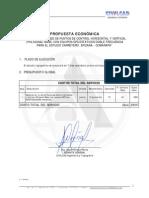 Propuesta Economica Estudio Carretero Epizana - Comarapa
