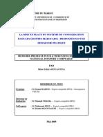73- La mise en place du système de consolidation dans les groupes marocains  proposition d'une démarche cec