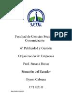 Situacion Del Ecuador
