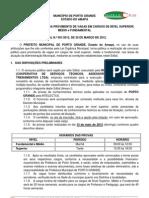 EDITAL PORTO GRANDE PUBLICAÇÃO
