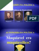 A AUTONOMIA DA POLÍTICA