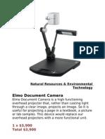 Elmo Document Camera