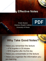 Note Taking Power Point