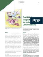 Posibilidades fitoterapéuticas del bulbo de ajo