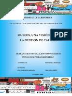 Monografia_museos INVESTIGACIÓN CULTURA CCE