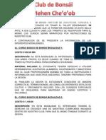 CURSO MI PRIMER BONSAI CLUB DE BONSÁI MEHEN CHE 2012